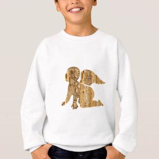 Agasalho Angélico elegante brilhante do anjo dourado do