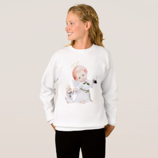 Agasalho Anjo bonito e gato do bebê