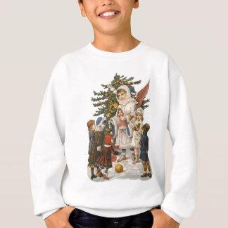 Agasalho Anjo do Natal do guardião do vintage com miúdos &