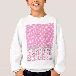 Agasalho arte cor-de-rosa floral do design das bolinhas