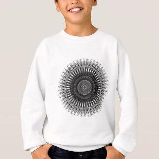 Agasalho Arte espiral preto e branco