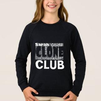 Agasalho Arte preta órfão da palavra do clube do clone