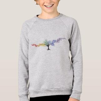 Agasalho Árvore de borboletas coloridas