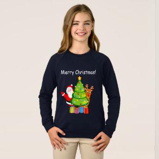 Agasalho Árvore de Natal do divertimento com Papai Noel e