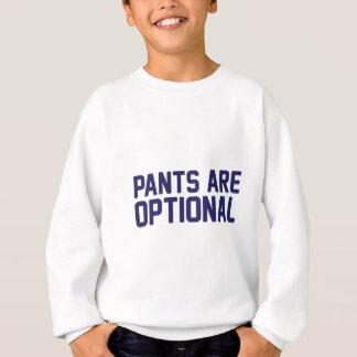 Agasalho As calças são opcionais