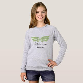 Agasalho As meninas seguem seu t-shirt longo da luva dos