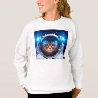 Agasalho Astronauta do gato - gatos no espaço - espaço do