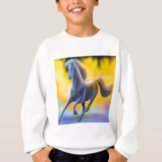 Agasalho Através do fogo o cavalo caçoa a camisola