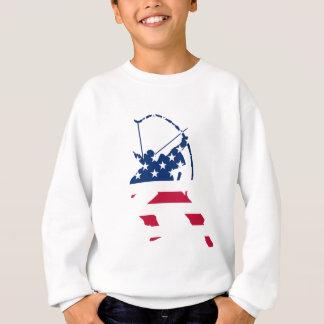 Agasalho Bandeira americana do arqueiro do tiro ao arco dos