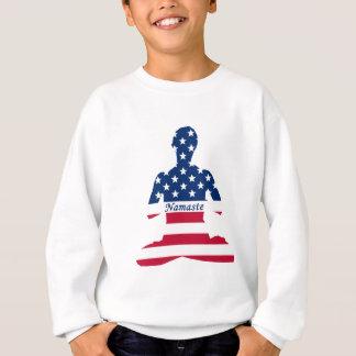 Agasalho Bandeira da ioga do americano da meditação dos EUA