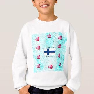 Agasalho Bandeira de Finlandia e design finlandês da língua