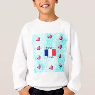Agasalho Bandeira de France e design da língua francesa