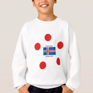 Agasalho Bandeira de Islândia e design islandês da língua