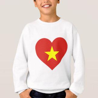 Agasalho Bandeira de Vietnam - vàng do sao do đỏ do amor