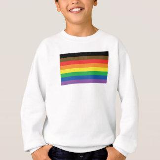 Agasalho Bandeira expandida LGBT customizável do arco-íris
