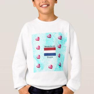Agasalho Bandeira holandesa e design holandês da língua
