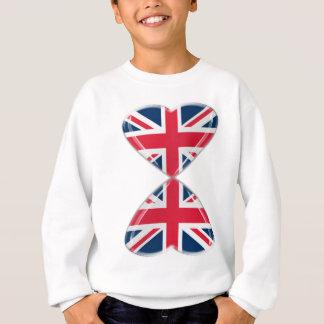 Agasalho Beijando bandeiras BRITÂNICAS dos corações
