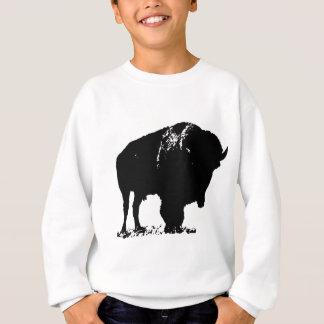 Agasalho Búfalo preto & branco do bisonte do pop art