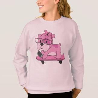 Agasalho Buldogue cor-de-rosa do hipster