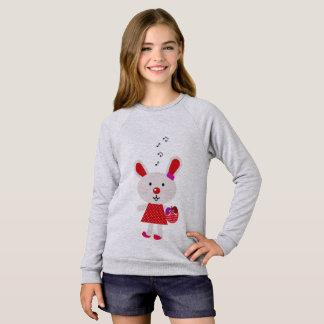 Agasalho Caçoa o t-shirt cinzento com coelho