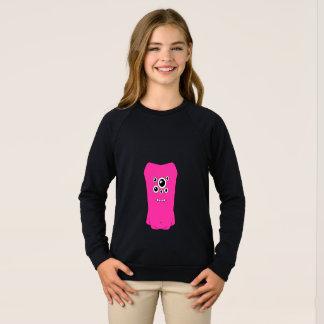 Agasalho Camisola americana do Raglan do roupa das meninas