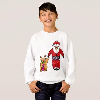 Agasalho Camisola de Papai Noel da rena do Natal