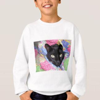Agasalho Camisola: Gato engraçado envolvido nas coberturas
