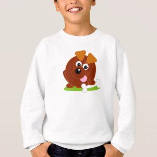 Agasalho Cão de filhote de cachorro bonito do marrom do