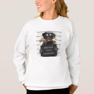 Agasalho Cão do Mugshot, pug engraçado, pug