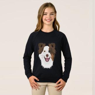 Agasalho Cara feliz border collie dos cães da ilustração