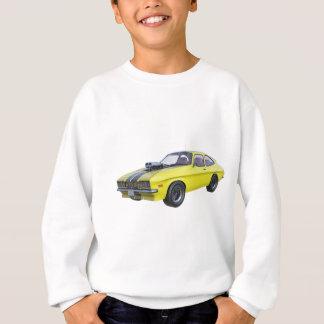 Agasalho carro do músculo dos anos 70 no amarelo e no preto