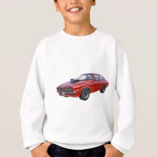Agasalho carro do músculo dos anos 70 no vermelho