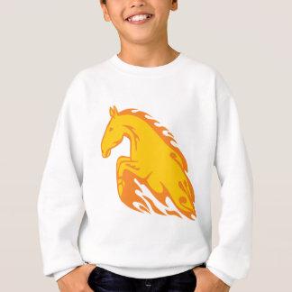 Agasalho Cavalo ateado fogo chamativo da chama