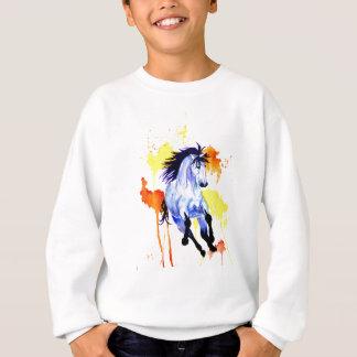 Agasalho Cavalo selvagem da aguarela