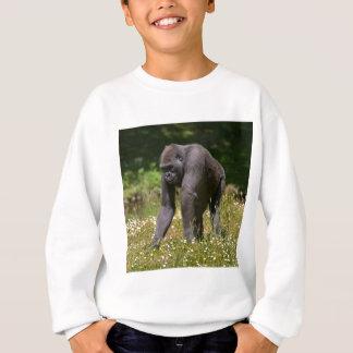 Agasalho Chimpanzé na grama de florescência