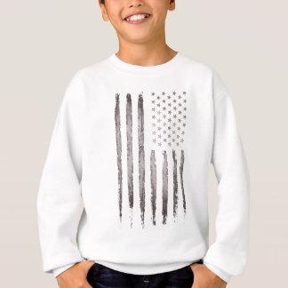 Agasalho Cinza do vintage da bandeira americana