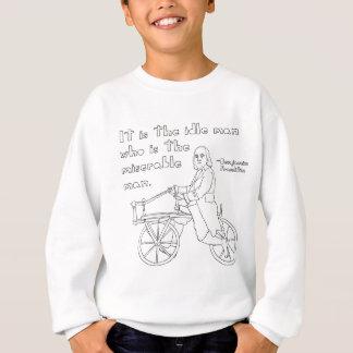 Agasalho Citações de Ben Franklin na bicicleta