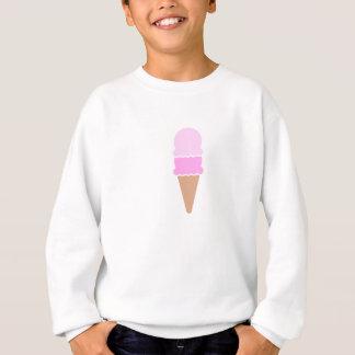 Agasalho Cone dobro cor-de-rosa bonito do sorvete da colher