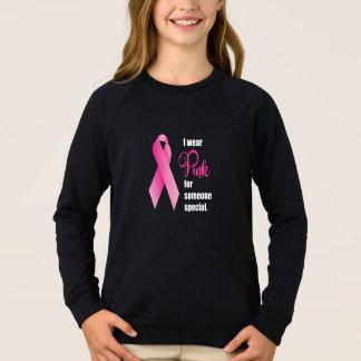 Agasalho Consciência do cancro da mama. Fita cor-de-rosa