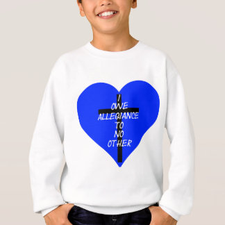Agasalho Coração azul e cruz de IOATNO