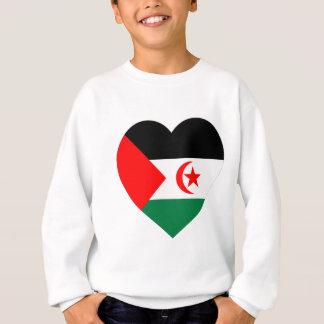 Agasalho Coração da bandeira de Western Sahara