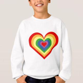 Agasalho Coração do arco-íris
