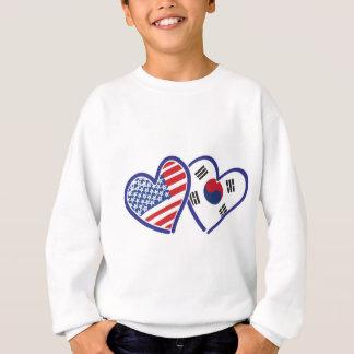 Agasalho Corações do amor dos EUA Coreia do Sul