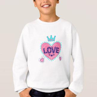 Agasalho Coroa e corações do amor