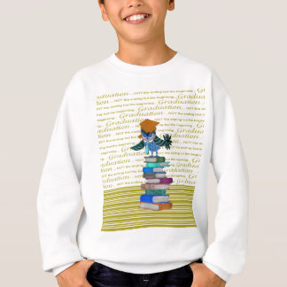 Agasalho Coruja que veste o laço, boné sobre livros,