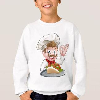 Agasalho Cozinheiro chefe dos desenhos animados com Kebab