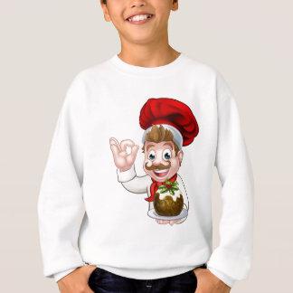 Agasalho Cozinheiro chefe no chapéu do Natal que guardara o