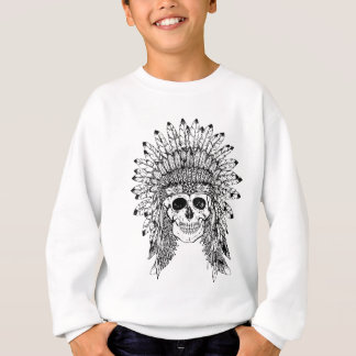 Agasalho Crânio gótico do estilo tribal com gráfico da
