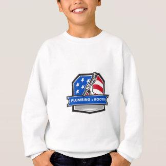 Agasalho Crista da bandeira dos EUA da chave de tubulação