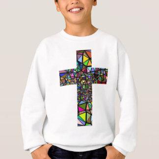 Agasalho Cruz abstrata do cristo do Natal